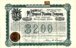 American Tropical Planting Company Plantation Bond (Colon,  Honduras)  - Delaware 1899