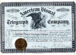 American Visual Telegraph Company - New Jersey 1893