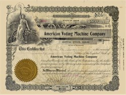 American Voting Machine Company 1913