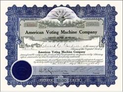 American Voting Machine Company 1914