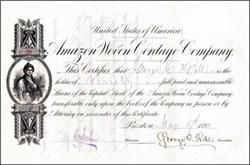 Amazon Woven Cordage Company 1890