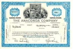 Anaconda Mining Company (Famous Mining  Company) - Montana