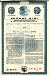 Anchorage, Alaska  $5000 General Obligation Bond - Alaska 1980