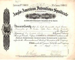 Anglo - American Inventions Syndicate 1917