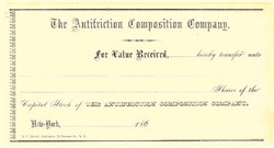 Antifriction Composition Company 1860's