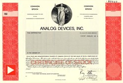Analog Devices, Inc. ( Co-founder Ray Stata, as President) - Norwood, Massachusetts 1988