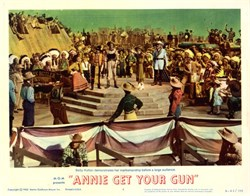 Annie Get Your Gun Lobby Card Starring Betty Hutton (Movie of  life of Annie Oakley and Buffalo Bill's Wild West Show)