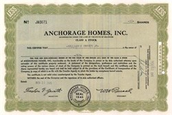 Anchorage Homes, Inc. 1945