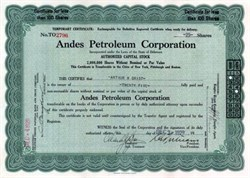 Andes Petroleum Corporation 1920's