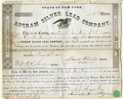 Ancram Silver Lead Company (RARE)  - Columbia County, New York - 1853