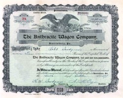 Anthracite Wagon Company (Coal and business wagons) - Harrisburg, Pennsylvania 1897