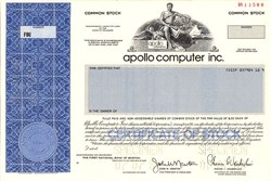 Apollo Computer inc. ( Acquired by Hewlett Packard) - Delaware 1988