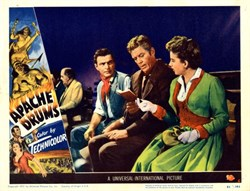 Apache Drums Lobby Card - 1951