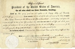 Appointment hand signed by U.S. President Ulysses S. Grant 1873