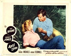April Love Lobby Card Starring Pat Boone and Shirely Jones - 1957