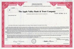 Apple Valley Bank & Trust Company - Connecticut 1999