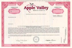 Apple Valley Bank & Trust Company