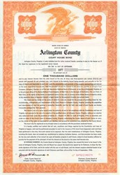 Arlington County Court House Bond - Virginia 1956