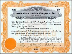 Arch Construction Company, Inc. 1929 - New Orleans