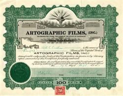 Artographic Films, Inc (Certificate #1).- California, 1920