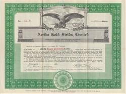 Arriba Gold Fields, Ltd. Colorado 1929
