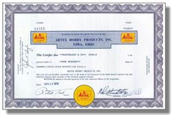 Artex Hobby Products Inc ( Now Colgate Palmolive )