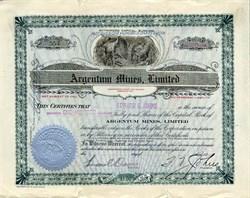 Argentum Mines, Limited - Ontario, Canada 1909