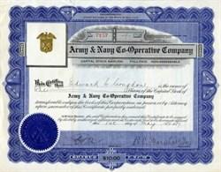 Army & Navy Co-Operative Company - New York 1917