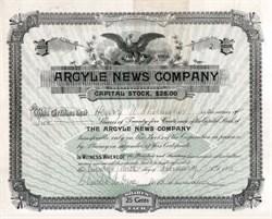 Argyle News Company 1898