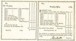 Revolutionary War Treasury Note Ledger handsigned by General Jedediah Huntington - 1789