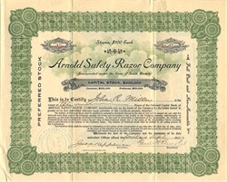 Arnold Safety Razor Company - South Dakota 1907