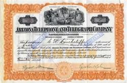 Arizona Telephone and Telegraph company -Tucson,  Arizona 1911