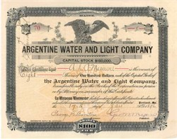 Argentine Water and Light Company 1896 - Maine
