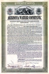 Arizona Water Company 1899 - $1,000 Gold Bond