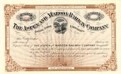 Aspen and Maroon Railway Company - Aspen, Colorado 1890s