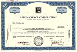 Astro-Science Corporation ( Now CEC Vibration Products ) - California 1967