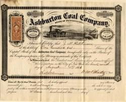 Ashburton Coal Company - Luzerne and Schuylkill Counties, Pennsylvania 1866