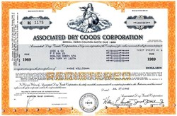 Associated Dry Goods Corporation ( Zero Coupon $1000000 Bond) - Virginia 1982