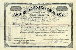 Ash Bed Mining Company - Keweenaw County, Michigan 1899