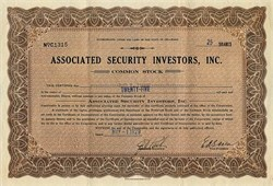 Associated Security Investors, Inc.- Delaware 1929
