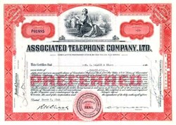 Associated Telephone Company 1940's ( Early Verizon Company )