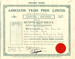 Associated Trade Press Limited - England 1931