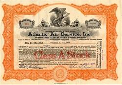 Atlantic Air Service, Inc. - Delaware 1929