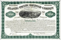 Atlantic and Pacific Railroad Company 1880