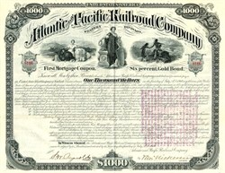 Atlantic and Pacific Railroad Company (Western Division) Gold Bond - New York 1880