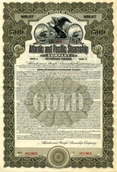 Atlantic and Pacific Steamship Company Gold Bond - Maine 1913