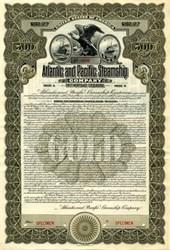 Atlantic and Pacific Steamship Company Gold Bond -Specimen - Maine 1913