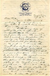 Atomic Bomb Letter regarding Bikini Island Nuclear Test dated July 23, 1946 (Written 2 days before test)