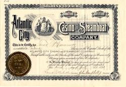 Atlantic City Casino and Steamboat Company - New Jersey 1891