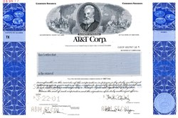 AT&T Corporation (Michael Armstrong as Chairman)  - LAST CERTIFICATE ISSUED - Specimen